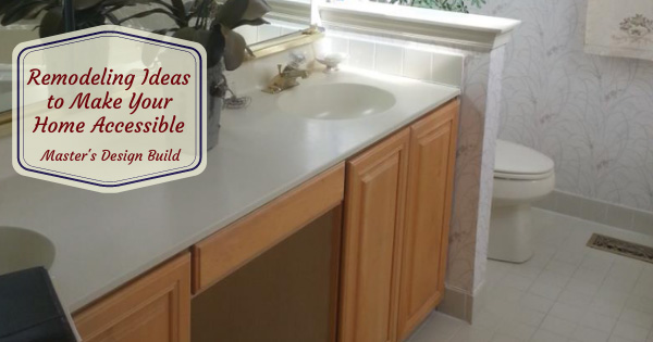 Sink and counter top of remodeled bathroom.