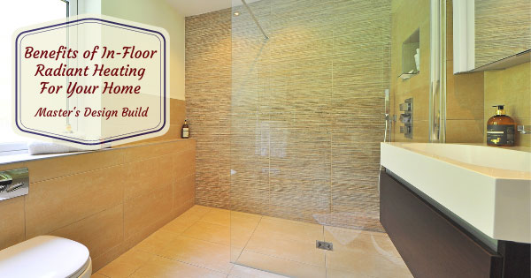 In-Floor radiant heating in a upscale bathroom.