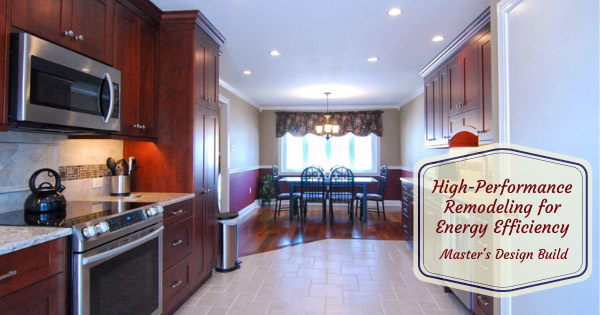 Remodeled for energy efficiency: Bright kitchen with stainless steel energy efficient appliances.
