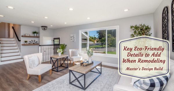 Eco-friendly remodeling